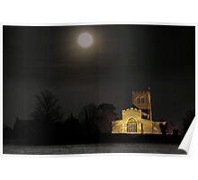 """Moonlight""  St Laud's Church Sherington Poster"