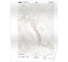 USGS Topo Map Oregon Becker Creek 20110831 TM Poster