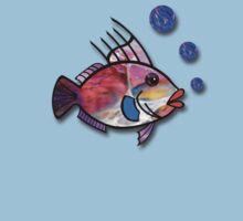 Fish with Bubbles Kids Tee