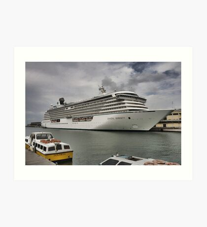 Crystal Serenity Cruise Liner Art Print