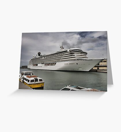 Crystal Serenity Cruise Liner Greeting Card