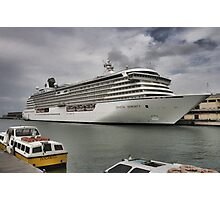 Crystal Serenity Cruise Liner Photographic Print