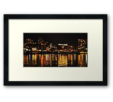 Ghirardelli Square Illumination Framed Print