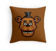 Five Nights at Freddy's 1 - Pixel art - Freddy Throw Pillow