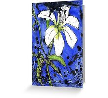 Splat Lily Greeting Card