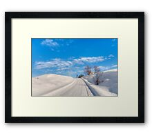 A lovely winter's day Framed Print