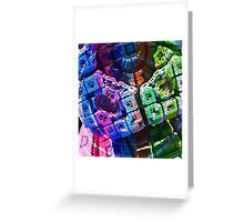 Hypnotize - Abstract Fractal Render Greeting Card