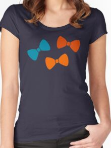 Vintage Pumpkin Bows Women's Fitted Scoop T-Shirt