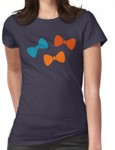 Vintage Pumpkin Bows Womens Fitted T-Shirt