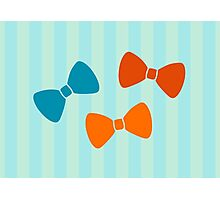 Vintage Pumpkin Bows Photographic Print