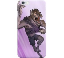Werewolf Transformation With Background iPhone Case/Skin