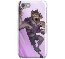 Werewolf Transformation With Background iPhone Case/Skin