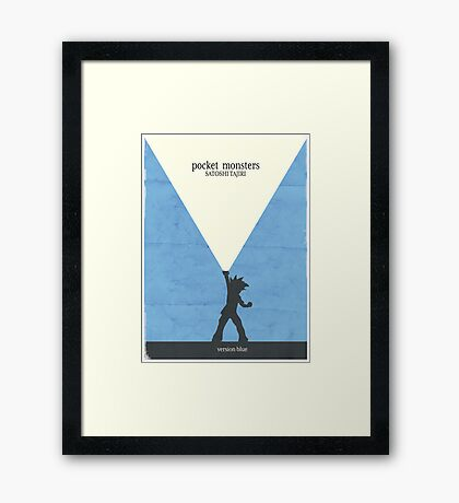 Minimalist Video Games: Pokemon Blue Version Framed Print