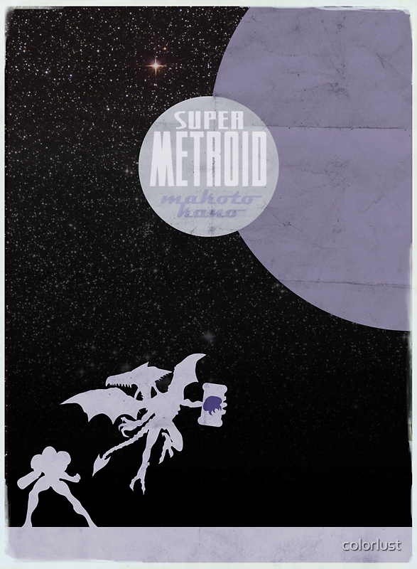Minimalist Video Games: Super Metroid  by colorlust