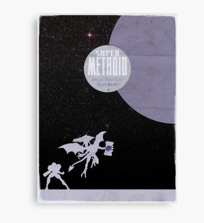 Minimalist Video Games: Super Metroid  Canvas Print