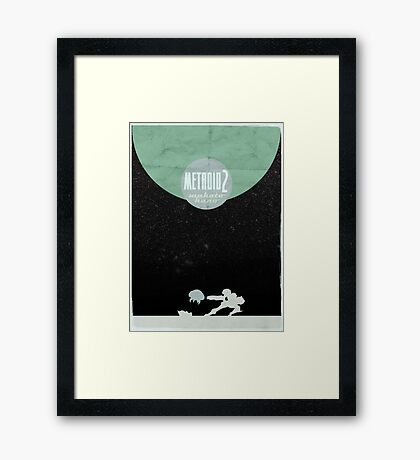 Minimalist Video Games: Metroid 2 Framed Print