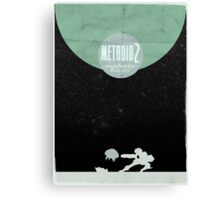 Minimalist Video Games: Metroid 2 Canvas Print
