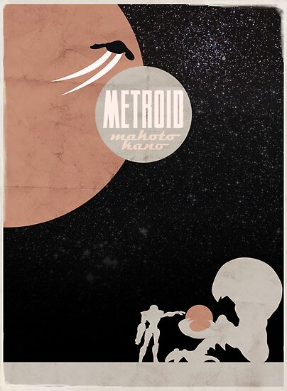 Minimalist Video Games: Metroid by colorlust