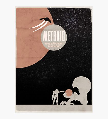 Minimalist Video Games: Metroid Photographic Print