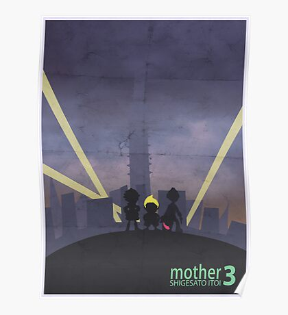 Minimalist Video Game Art: Mother 3  Poster