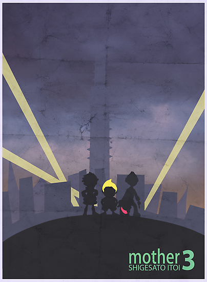 Minimalist Video Game Art: Mother 3  by colorlust