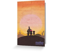 Minimalist Video Games: Mother  Greeting Card