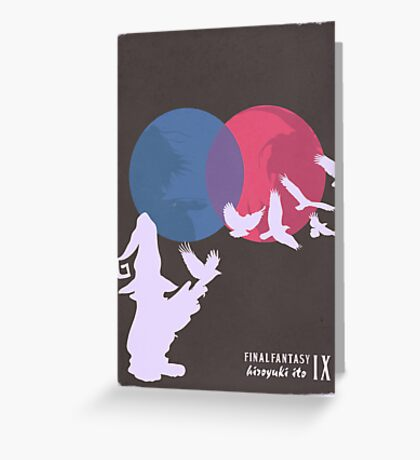 Minimalist Video Games: Final Fantasy IX Greeting Card