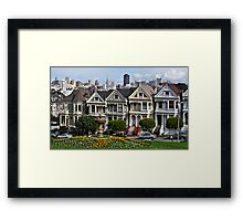 Alamo Square Framed Print