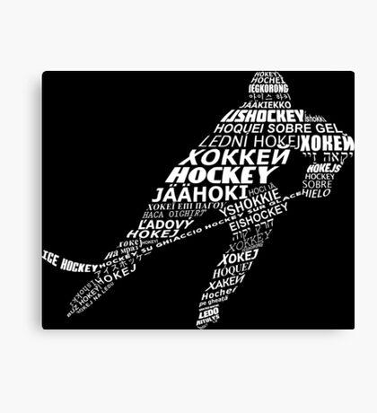 Typographic Hockey Languages   Canvas Print