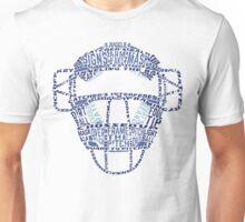 Baseball Catchers Mask Calligram Unisex T-Shirt