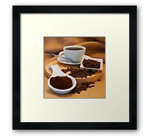 Bean to Cup Framed Print