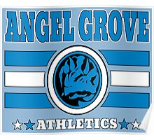 Angel Grove Athletics - Blue Poster