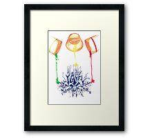 Beg For Your Pigment  Framed Print