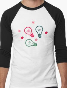 Party Lightbulb Pattern Men's Baseball ¾ T-Shirt