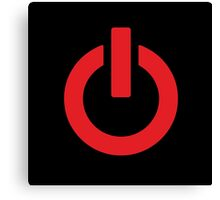 Power Button (red) Canvas Print