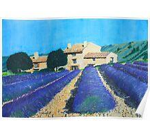 Cassis Farm Lavender Poster