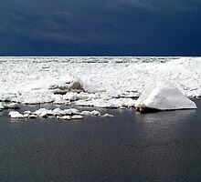 Icy Waters of Lake Michigan by BarbL