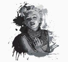 Marilyn Monroe (Black Background) Kids Tee