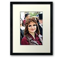 Steampunk Beauty Framed Print
