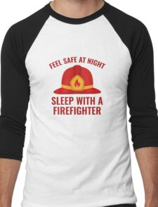 Sleep With A Firefighter Men's Baseball ¾ T-Shirt