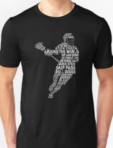 Typographic Lacrosse Player Unisex T-Shirt