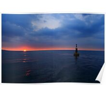 The Whitby Bell Buoy at Sunset Poster