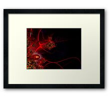 Swimming with Fishes Fractal Artwork Framed Print