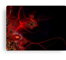 Swimming with Fishes Fractal Artwork Canvas Print
