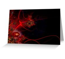 Swimming with Fishes Fractal Artwork Greeting Card