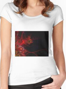 Swimming with Fishes Fractal Artwork Women's Fitted Scoop T-Shirt