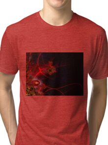 Swimming with Fishes Fractal Artwork Tri-blend T-Shirt