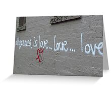 Fitzroy - All you need is love ...love...love.. Greeting Card