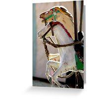 Vintage Carousel Horses Greeting Card