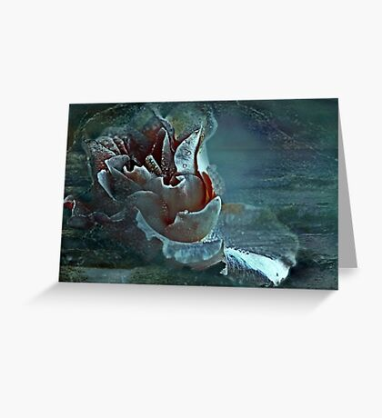 """Just as a Mermaid ,she floats at sea ..."" Greeting Card"